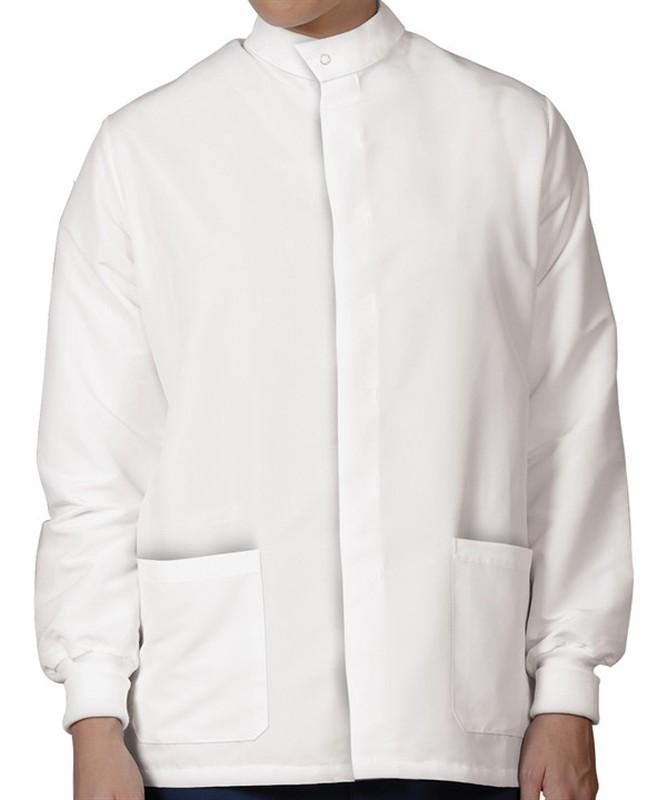 6423 Unisex White PFAS-Free TShield Short Lab Coat
