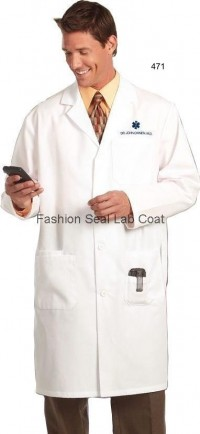 471 Men's 41″ Snap Front Lab Coat