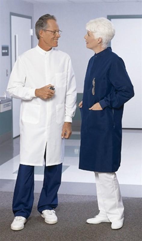 6419 Unisex Navy PFAS-Free T-Shield Lab Coat