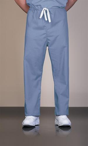 817 Unisex Cotton Ciel Blue Reversible Drawcord Scrub Pant