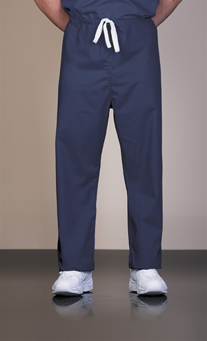 820 Unisex Cotton Navy Reversible Drawcord Scrub Pants