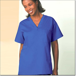 6767 Blueberry Reversible Unisex Set-In Sleeve Scrub Shirt – Fashion Blend