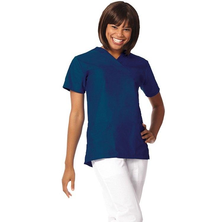 7589 Navy Ladies' V-Neck Yoke Tunic – Fashion Blend
