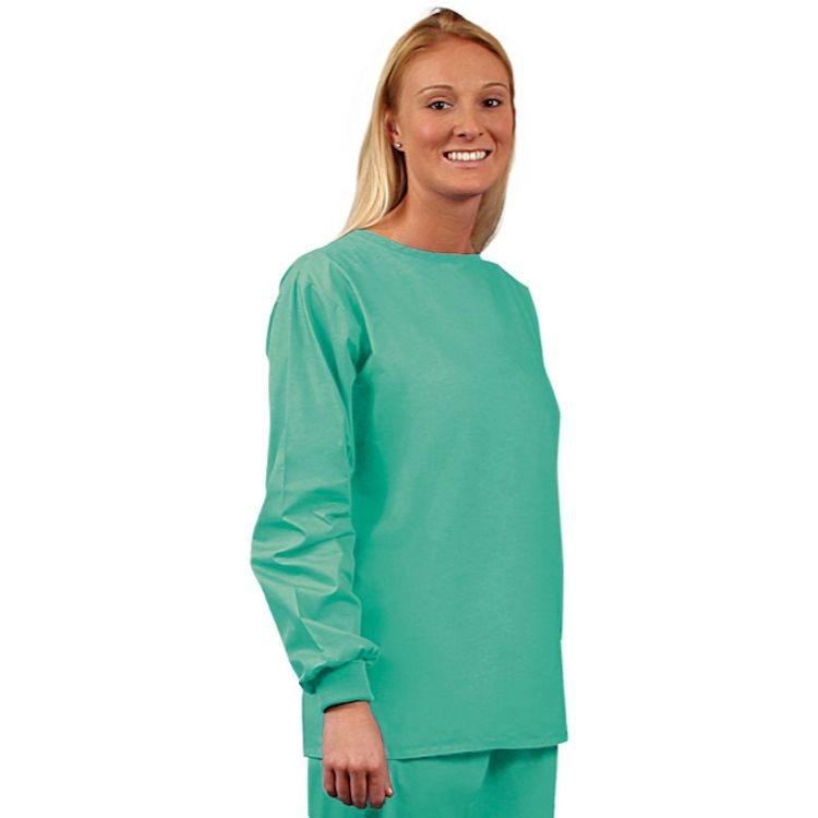 6736 Jade Unisex No Pocket Long Sleeve Scrub Shirt – Fashion Poplin
