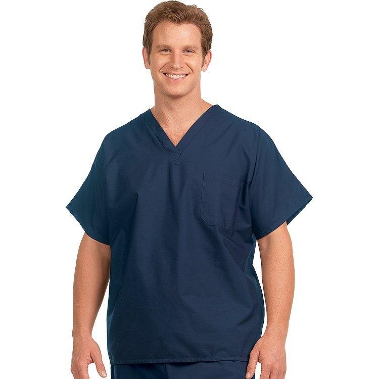 6786 Fashion Seal Navy Reversible Unisex Cap Sleeve Scrub Shirt – Fashion Blend