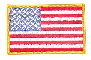 20050 MMBL Deluxe American Flag/Gold Border