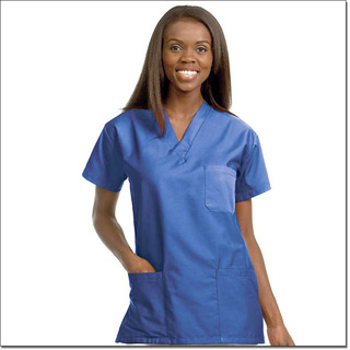 78760 Unisex FP Blueberry Scrub Shirt 3 Pockets