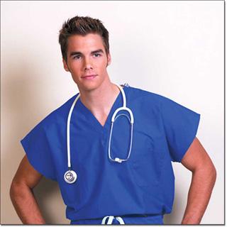 6769 Teal Fashion Seal Reversible Unisex Cap Sleeve Scrub Shirt