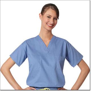 6780 CielBlue Unisex Reversible Set-In Sleeve CM Scrub Shirt – Fashion Blend