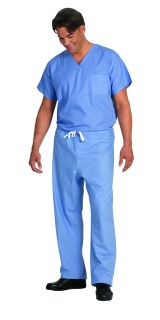 6800 Ciel Blue Unisex Fashion Blend Reversible Tall Scrub Shirt