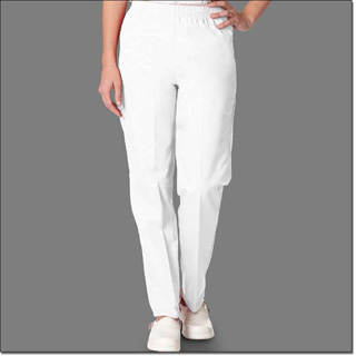 7071 White Ladies Fashion Slack Petites