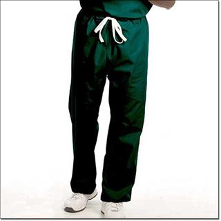 7719 Fir Green Unisex FP Reversible DCord Scrub Pants