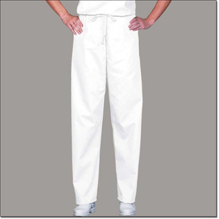 78835 White Unisex FP Fashion Scrub Pants