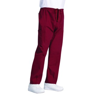 7927 Burgundy Fashion Poplin DCord Cargo Scrub Pant