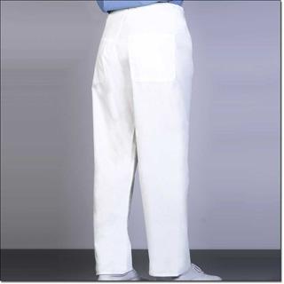 898 White Unisex Fashion Blend Reversible Long Scrub Pant