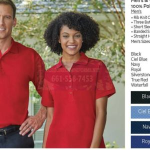 Men's & Women's Baby Pique Polos 100% Polyester