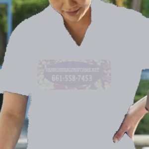 62497 White Women's Short Sleeve Fineline Twill Woven Shirts 65% Polyester/35% Cotton