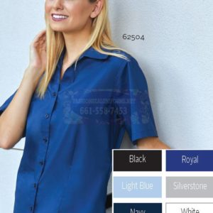 Men's & Women's Short Sleeve New Stretch Poplin Shirts