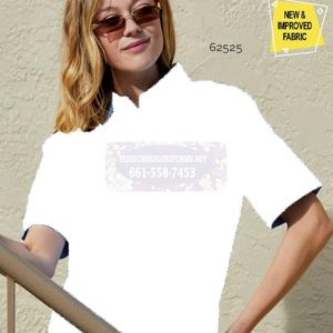 62526 White Women's Short Sleeve New Oxford Shirts
