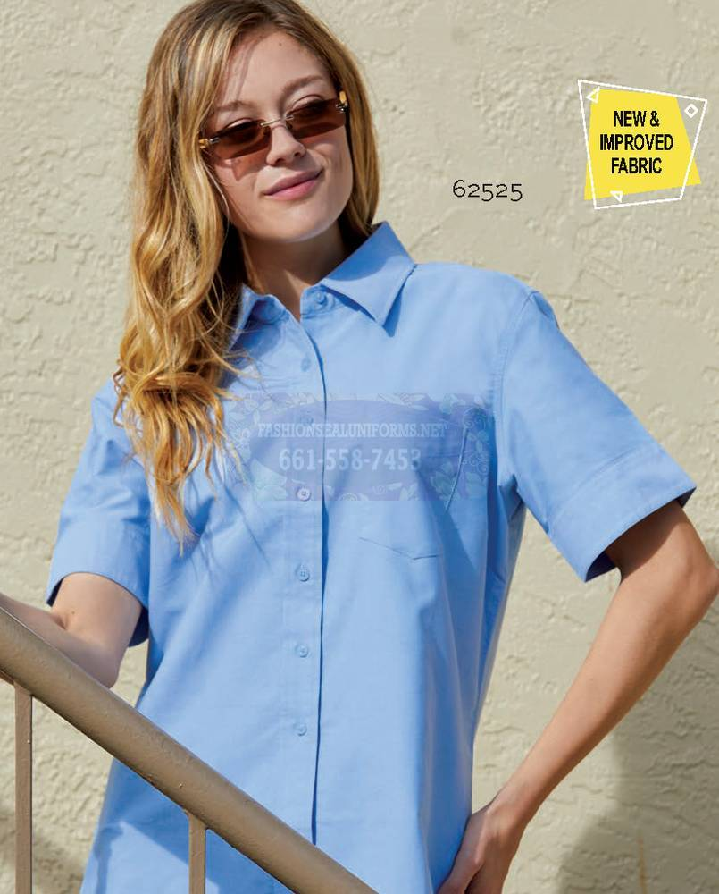 62525 62526 Women's Short Sleeve New Oxford Shirts