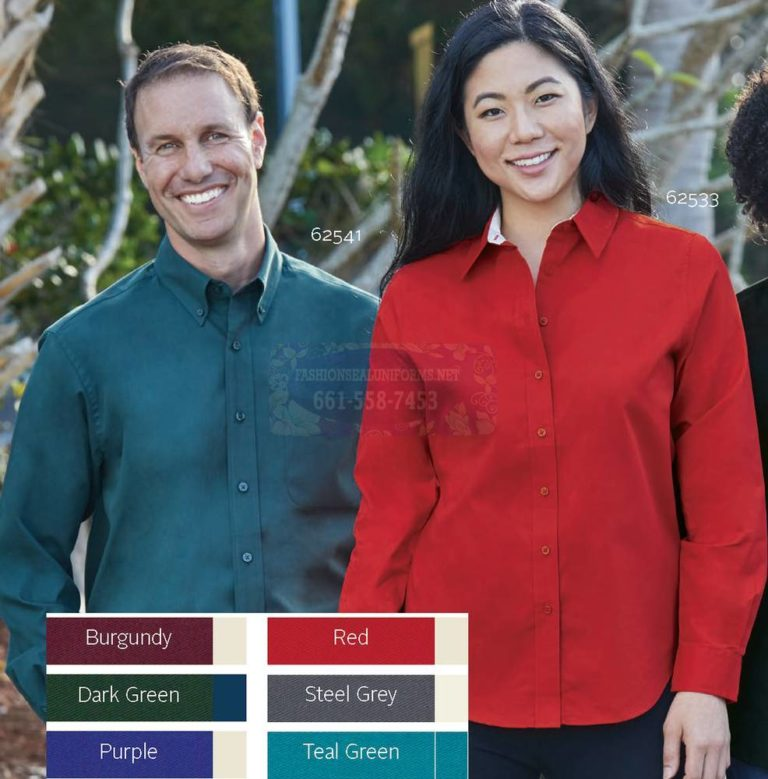 Men's & Women's Long Sleeve Easy Care Woven Shirts
