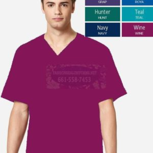 WWK103 Wine Men's V-Neck Top